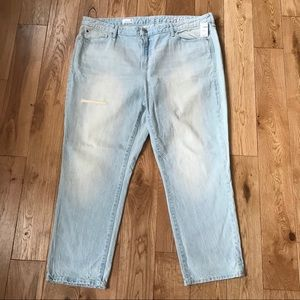 Gap Real Straight Jeans acid wash plus distressed
